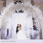 гинго белоба белая на ветке , искусственные цветы для свадебного декора